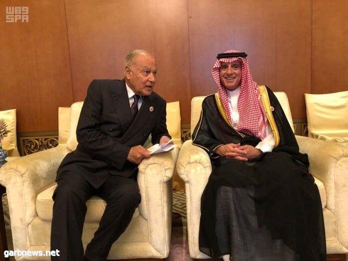 وزير الخارجية يلتقي الأمين العام لجامعة الدول العربية