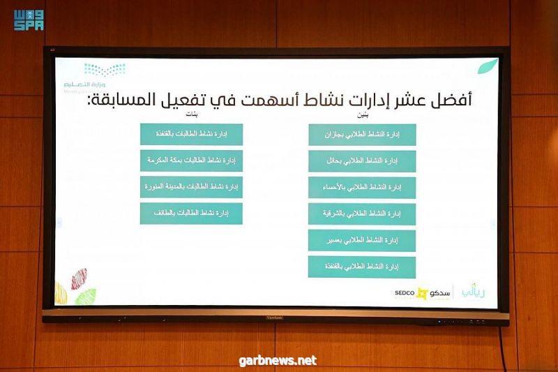 """#وزارة_التعليم تكرّم الفائزين في برنامج """"مسابقة ريالي""""؛ لتعزيز ثقافة الوعي المالي والادخار بين الطلبة."""