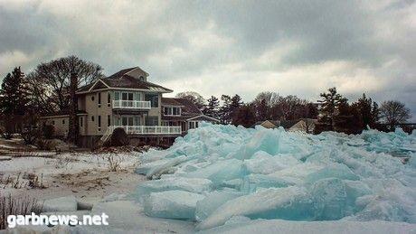 """- الثلج الأزرق على طول الساحل الشمالي للبحيرات الكبرى...."""" صور """""""