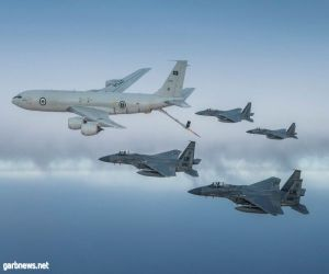 طائرات سعودية وأمريكية تحلق فوق الخليج