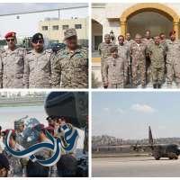 """بالصور"""" القوة السعودية المشاركة في التمرين الثنائي السعودي الأردني تصل الى عمان اليوم"""